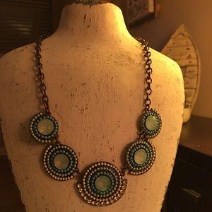 Blue Circle Necklace